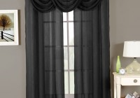 Black Sheer Curtain Panels