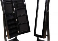 Black Standing Mirror Jewelry Armoire