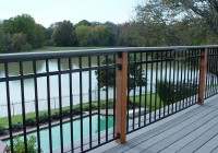 Black Steel Deck Railing