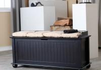 Black Storage Bench For Bedroom
