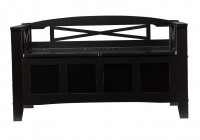 Black Storage Bench Seat