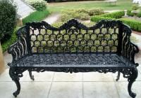 Black Wrought Iron Benches