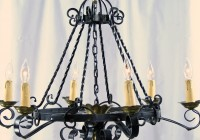 Black Wrought Iron Chandelier Lighting