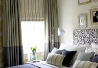 Blinds And Curtains Combination Bedroom