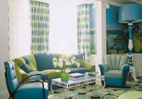 Blue And Green Patterned Curtains