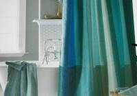 blue and green shower curtains