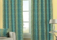 Blue And Green Window Curtains