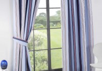 Blue And Pink Striped Curtains