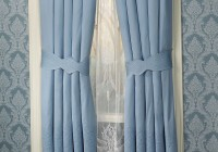 Blue Bathroom Window Curtains