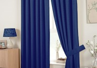 blue bedroom window curtains