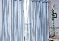 Blue Striped Curtains Bedroom