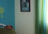 Blue Walls Green Curtains