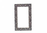 Bone Inlay Mirror Black