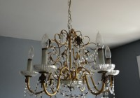 Brass And Glass Chandelier Makeover