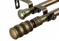 brass curtain rods and finials
