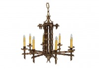 Bronze Faux Candle Chandelier
