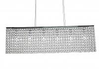 bronze rectangular crystal chandelier