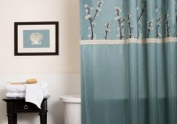 Brown And Blue Curtains Panels