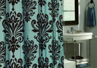 Brown And Blue Shower Curtains Fabric