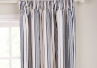 Brown And Blue Striped Curtains