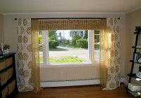 Brown And White Patterned Curtains