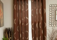 Brown Curtain Panels With Grommets