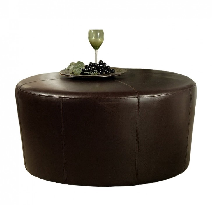 Permalink to Brown Leather Coffee Table Ottoman