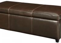 Brown Storage Ottoman Bench