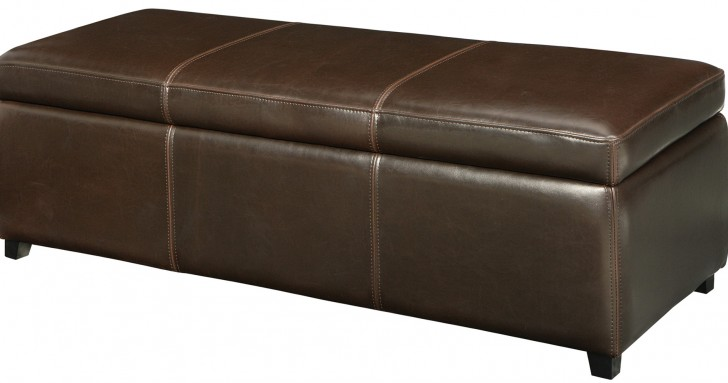 Permalink to Brown Storage Ottoman Bench