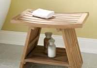 Broyhill Teak Shower Bench