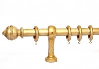 Brushed Gold Curtain Rod