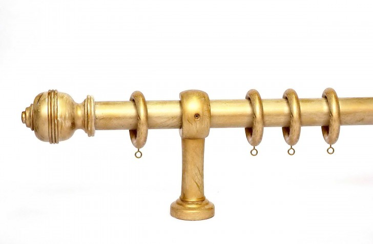 Permalink to Brushed Gold Curtain Rod