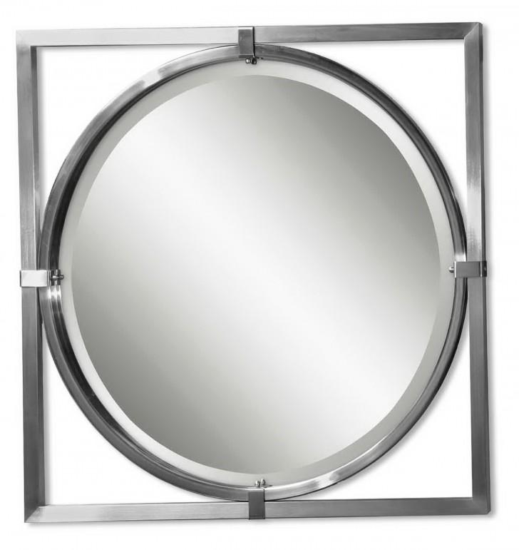 Permalink to Brushed Nickel Mirror Frame