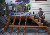 Build Deck Stairs Around Corner