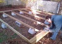 Building A Floating Deck On The Ground