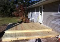 Building A Floating Deck Over A Concrete Patio
