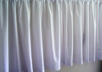Cafe Curtain Rods White