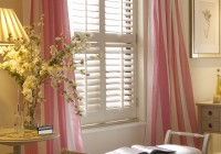 Cafe Style Shutters With Curtains
