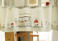 cafe themed kitchen curtains