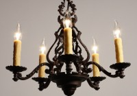 Cast Iron Chandelier Antique