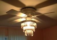Ceiling Fan Chandelier Combination