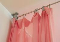 Ceiling Mount Curtain Rod Set