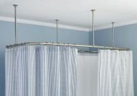 Ceiling Mounted Shower Curtain Rail