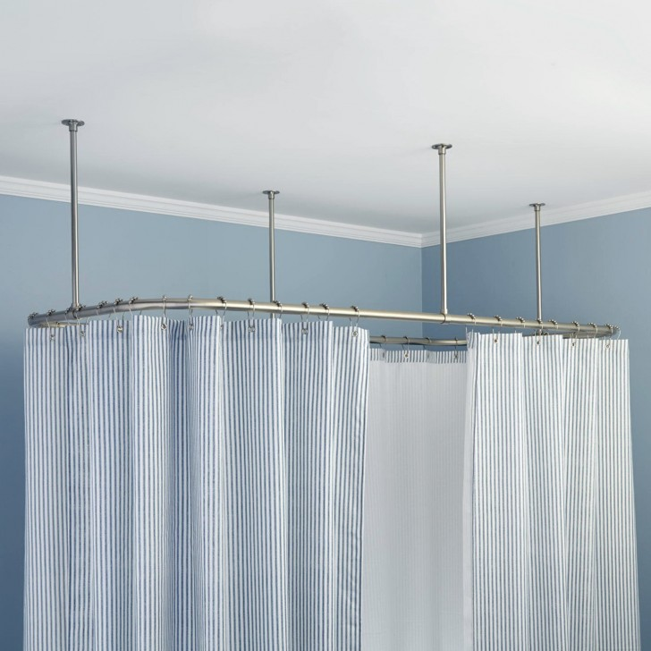 Permalink to Ceiling Track Shower Curtains