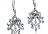 Chandelier Diamond Earrings White Gold