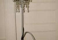 chandelier floor lamp diy