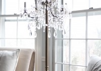 Chandelier Floor Lamp Draped Jewels