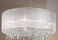 Chandelier With Shade And Crystals