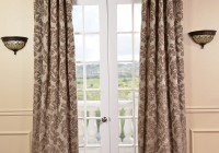 Chocolate Brown And White Curtains