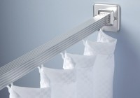 Chrome Shower Curtain Rod Straight